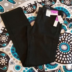 Mossimo Blck Stretch Jeans 6 Long MidRise Straight